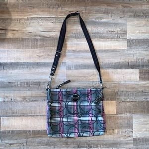 Coach Poppy Sparkle Tartan Plaid Crossbody Purse